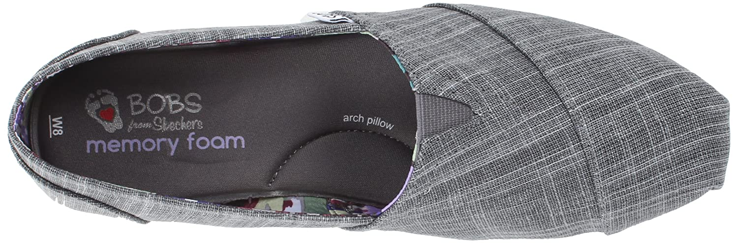 Amazoncom BOBS from Skechers Womens Plush Memories Flat Gray 6