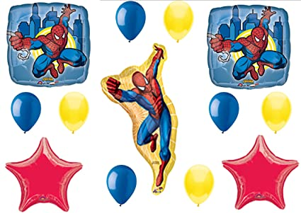 Amazon.com: Spiderman La película decoraciones de globos de ...
