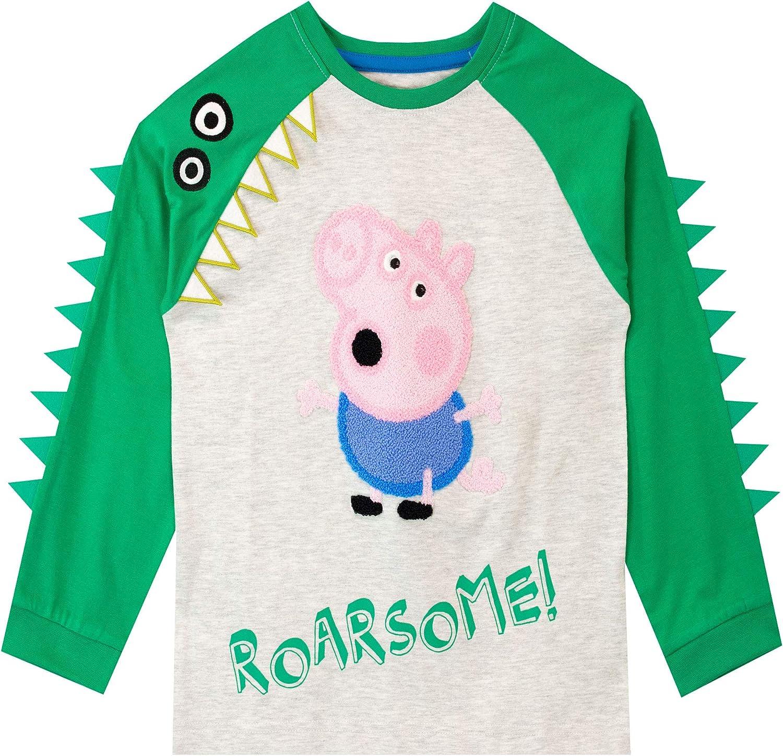 Peppa Pig Camiseta de Manga Larga para niños George Pig: Amazon.es ...