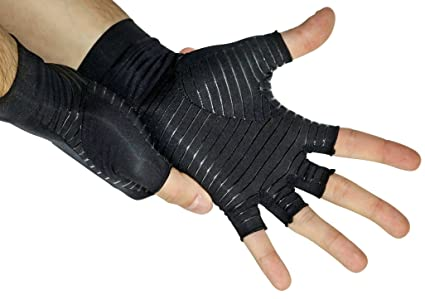 14b66ef0ae Copper Infused Compression - Best Medical Gloves Guaranteed to Speed  Recovery & Relieve Symptoms of Arthritis, RSI, Carpal Tunnel,  Osteoarthritis,Tendonitis ...