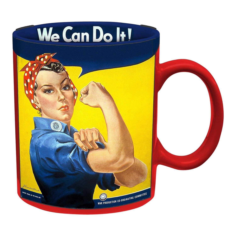 Vandor 61161 Smithsonian Rosie The Riveter 12 Oz Ceramic Mug Multicolored