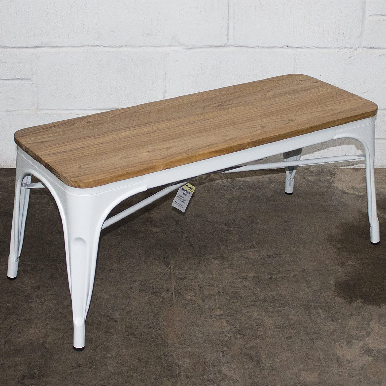Marko Furniture Industrial Bench Seat Metal Rustic Vintage Furniture Tolix