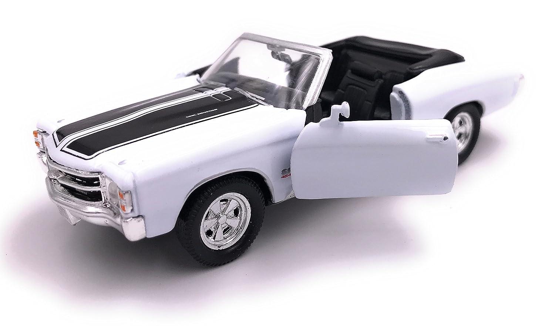 Welly 1971 Chevrolet Chevelle SS 454 auto modello di licenza prodotto 1: 34-1: 39 bianco