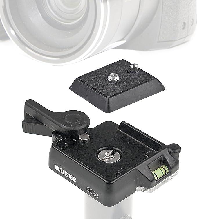 Kaiser Fototechnik 6026 Schnellkupplung Für Stativ Mit Kamera