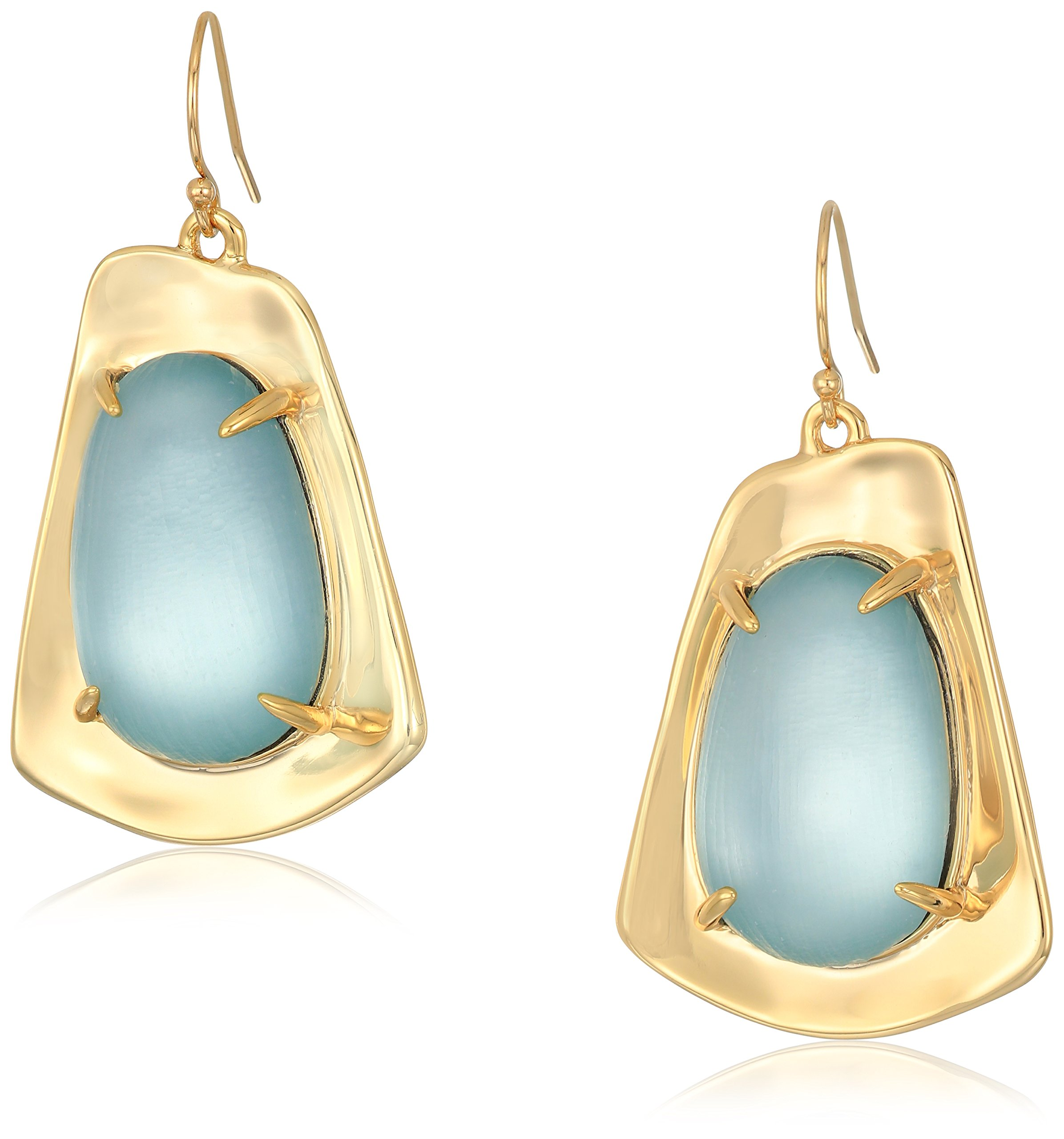 Alexis Bittar Watery Capstone-Shape Drops with Lucite Detail Blue Grey Drop Earrings