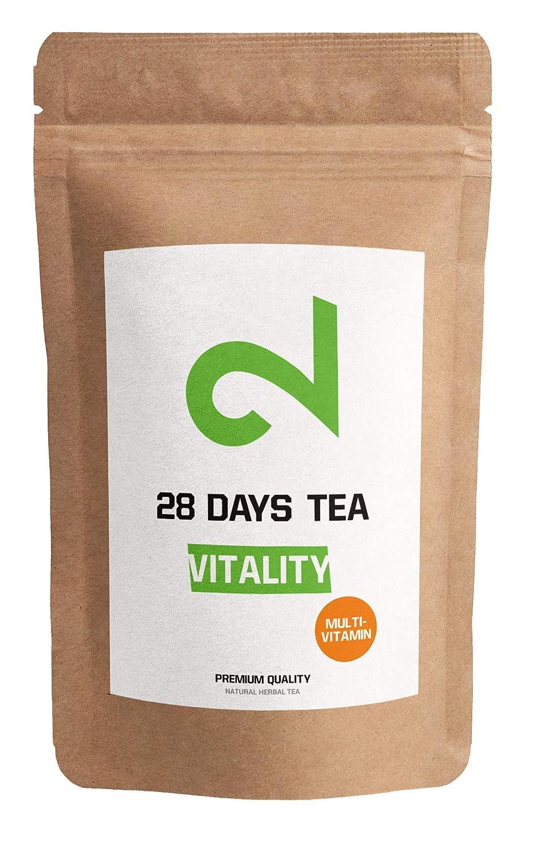 T� Multivitaminico DUAL Vitality|T� Alla Fruta 100% Naturale & Vegan|100g T� a foglia sfusa| Aroma di limone e bacche di goji|Senza additivi e zucchero|Vitamina arricchita|Certificato in lab| Germany