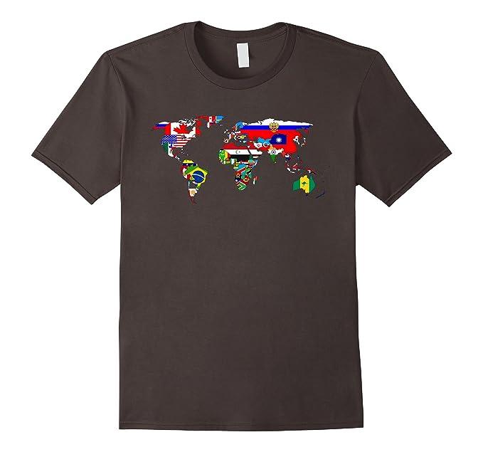 Amazon globe tshirt globe of flags world map atlas t shirt mens globe tshirt globe of flags world map atlas t shirt funny 2xl asphalt gumiabroncs Images
