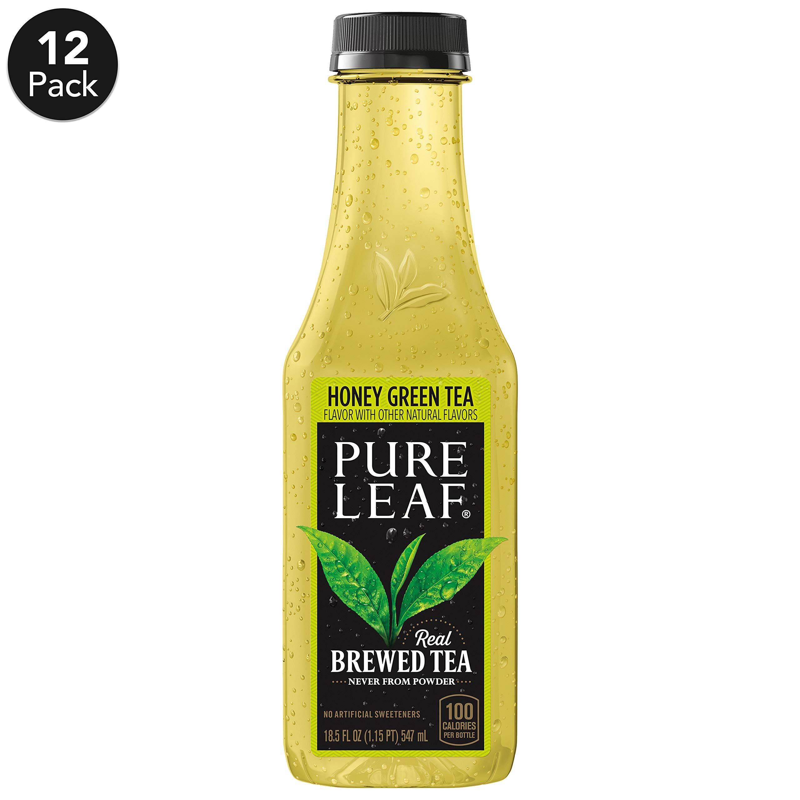 Pure Leaf Iced Tea, Not Too Sweet, Real Brewed Honey Green Tea, 18.5  Fl Oz, Pack of 12