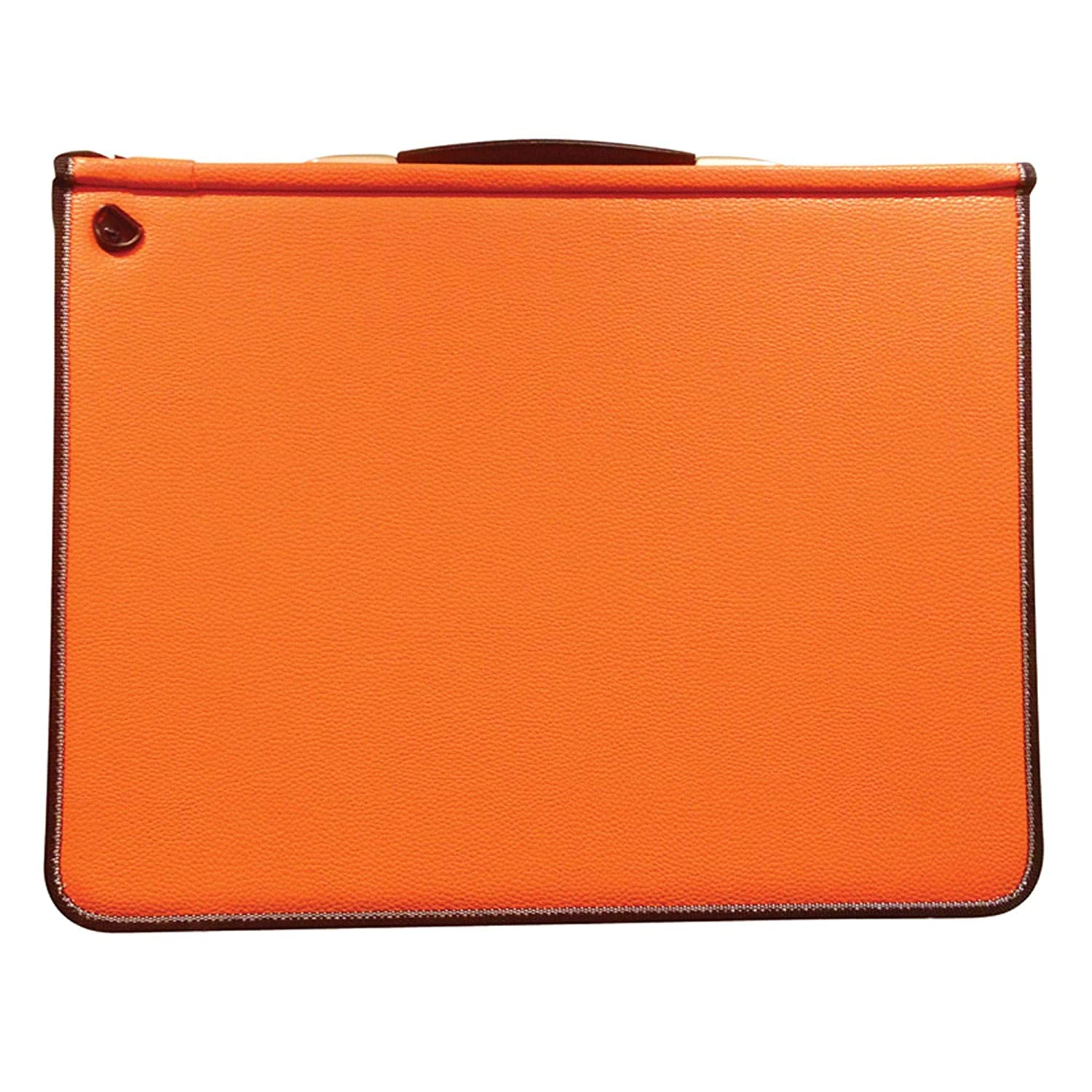 Artcare 15483310 46 x 5 x 36 cm A3 Synthetic Material Premier Portfolio with 5 Free Sleeves, Sunset Orange Mapac