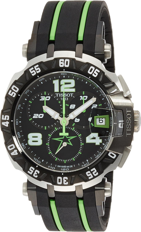 Tissot Men s T-Race Stainless Steel Swiss-Quartz Watch with Rubber Strap, Multi, 20 Model T0924172705701