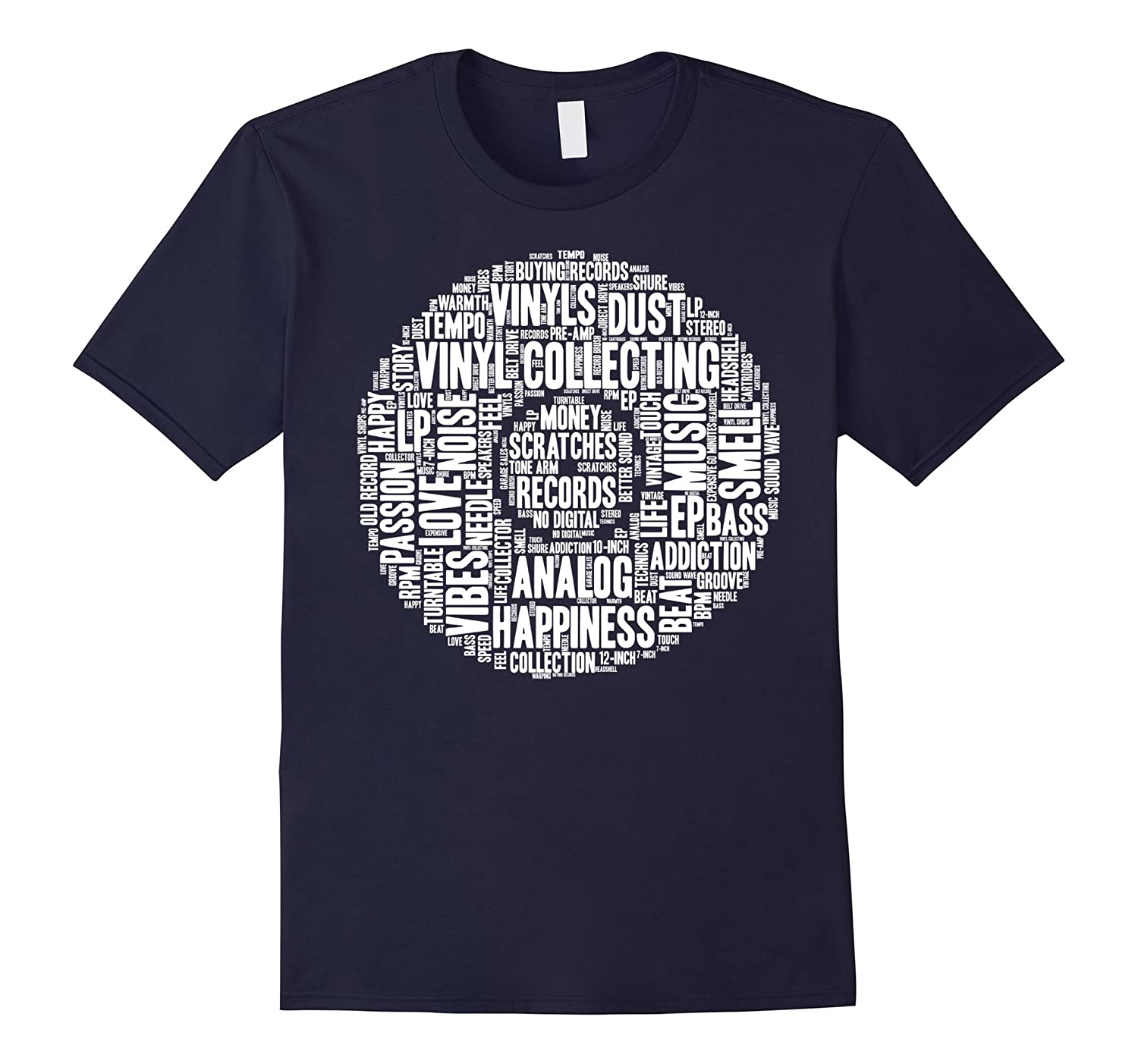 Love Vinyl Shirt Record Collection Turntable DJ Words Gift-RT