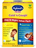Kids Cold Medicine for Ages 2+, Hylands 4 Kids Cold 'n Cough, Day and Night Value Pack, Syrup Cough Medicine for Kids…