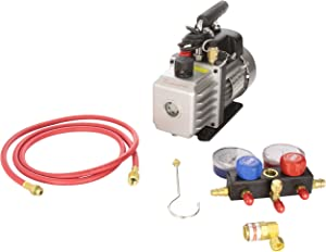 FJC KIT6 Vacuum Pump and R134a Manifold Gauge Set