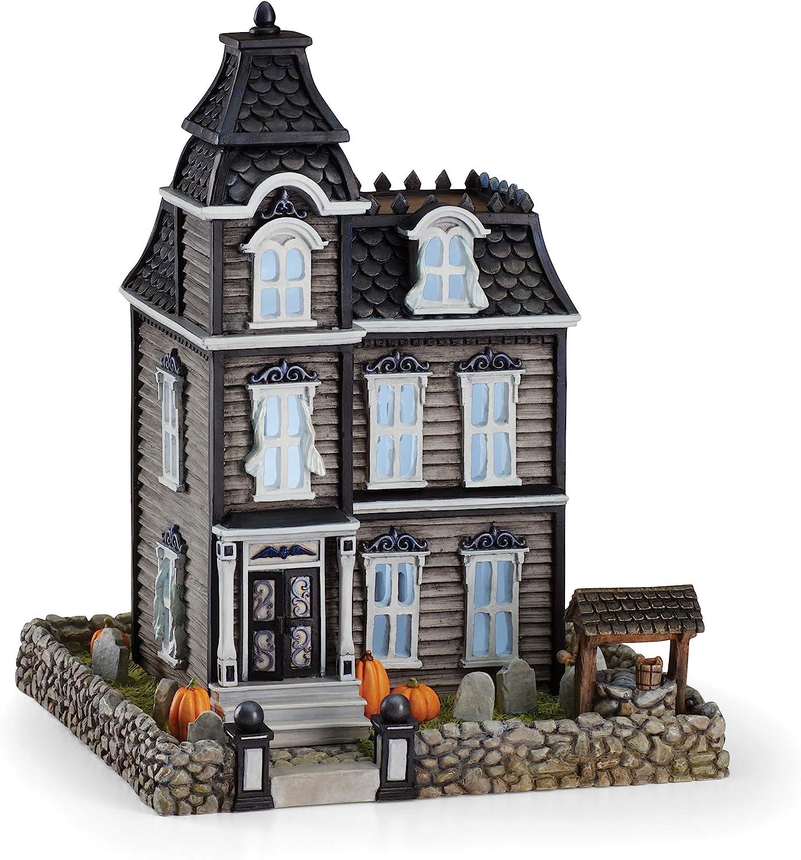 Lenox Vintage Halloween Light-Up Haunted House Figurine, 3.15 LB, Multi