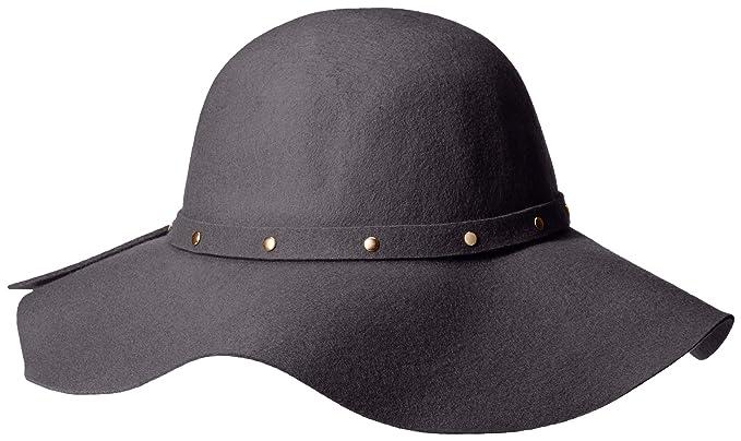 0577e564f David & Young Women's 100 Percent Wool Floppy Hat with Self Felt Bad ...