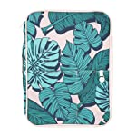 Yoobi Document Organizer | Green Palm Frond Leaves Design | Storage & Organization with lots of Zipper Pockets and...