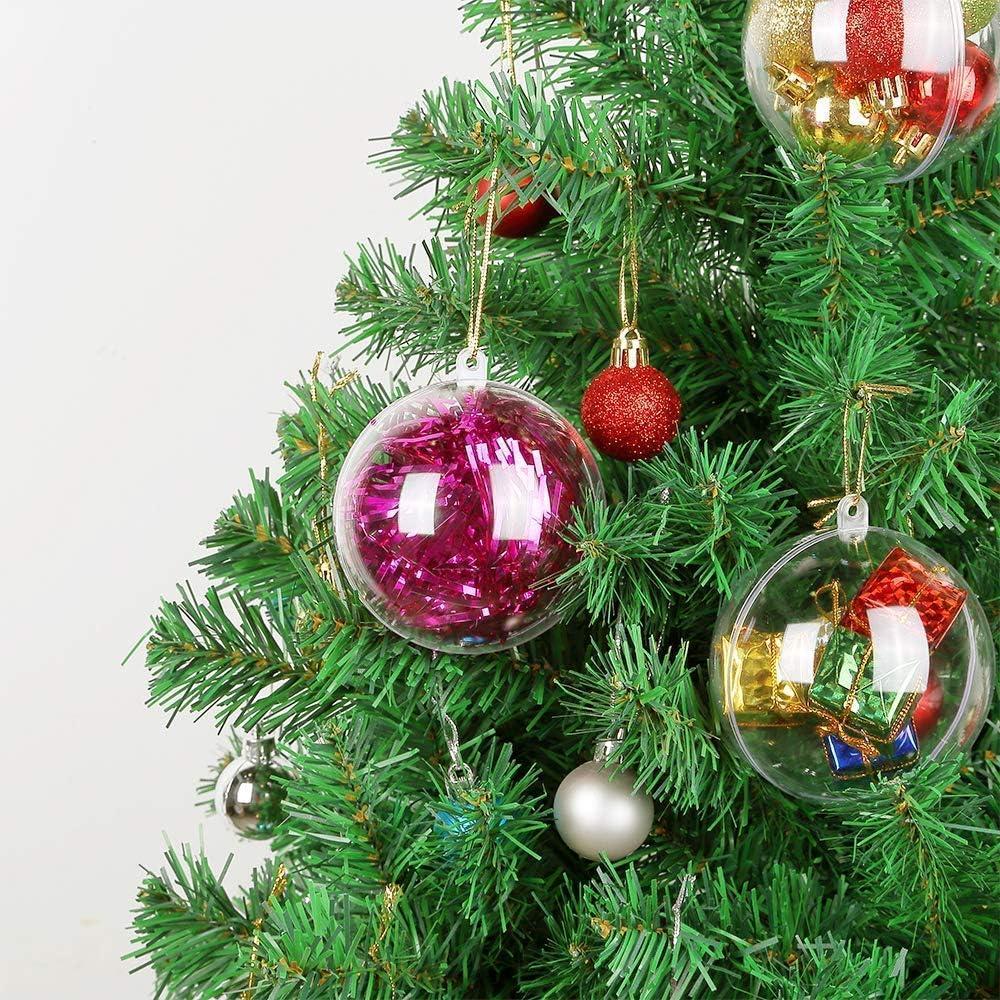 GFUTSBOX 24 Weihnachtskugeln Rosa gl/änzend glitzernd matt Christbaumschmuck bis /Ø 6 cm Baumschmuck Weihnachten Deko Anh/änger 4 cm, Pink