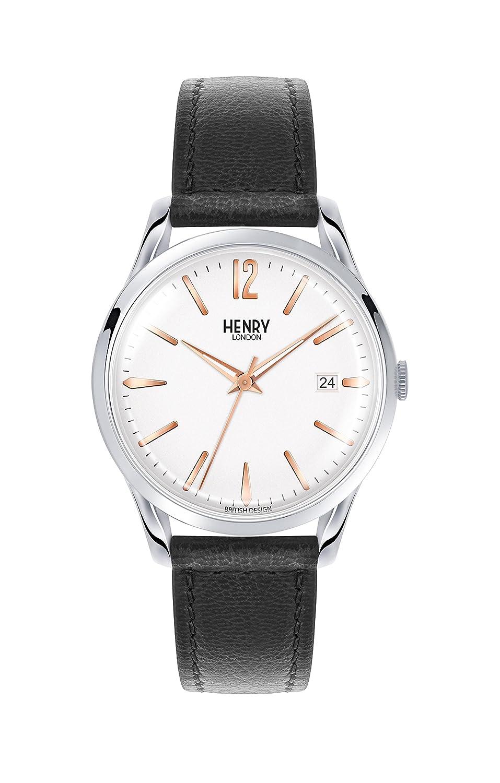 Henry London Reloj Analógico para Unisex de Cuarzo con Correa en Cuero 5018479077725