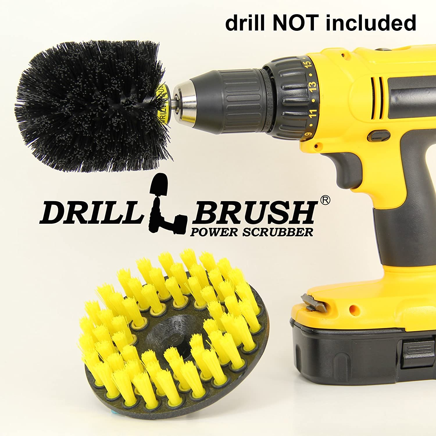amazon com tile and grout drill brush cordless drill power scrubber