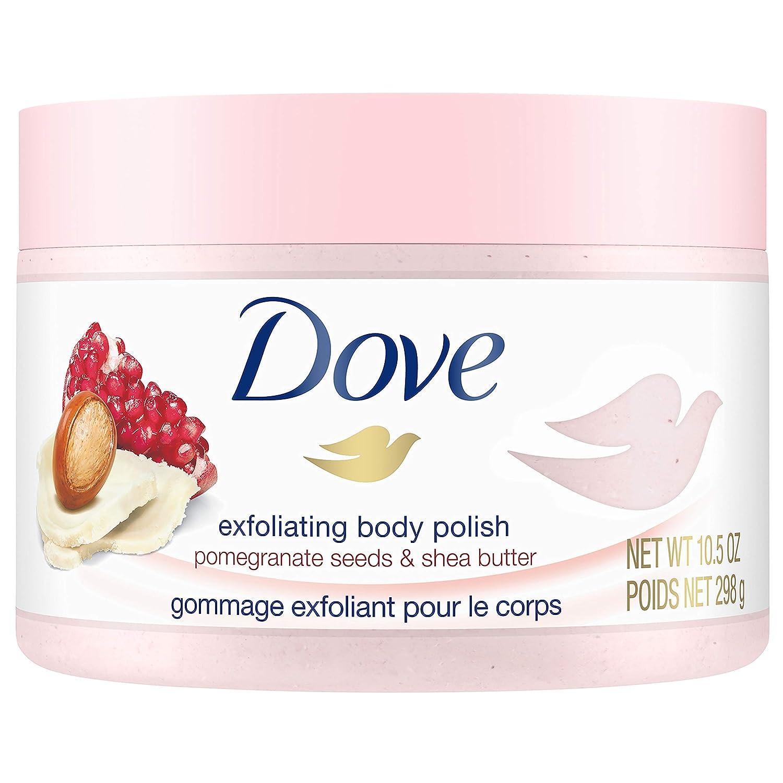Dove Exfoliating Body Polish Body Scrub, Macadamia & Rice Milk, 10.5 Ounce Unilever
