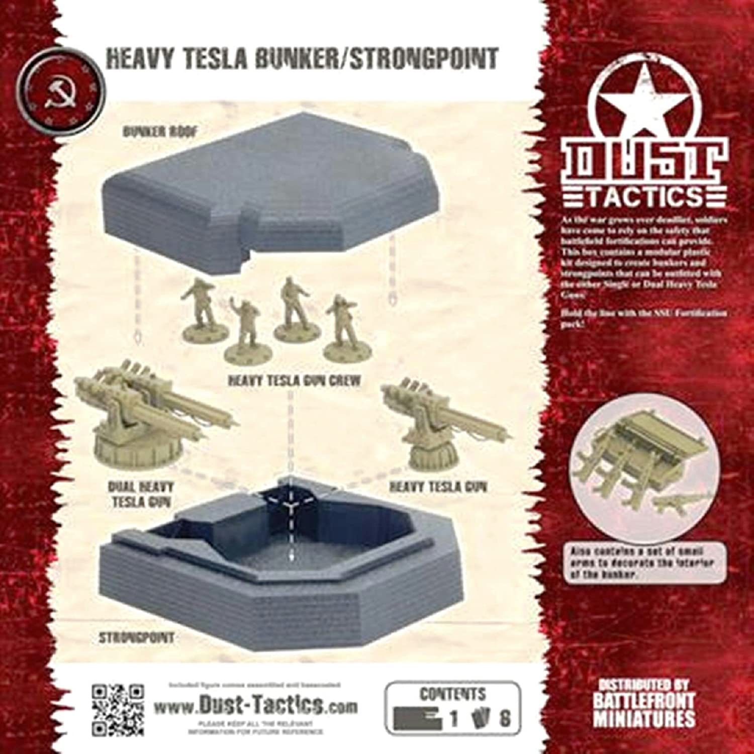 Heavy Tesla Bunker Model Kit Amera Plastic Mouldings BFMDT073B