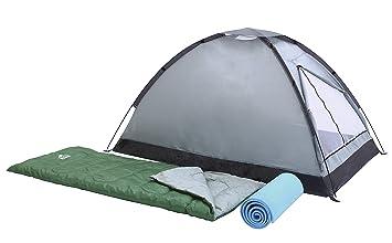 Bestway Campak - Set tienda de campaña para 2 personas, montaje varillas, 2 sacos de dormir, 2 suelos aislantes, bolsa de transporte: Amazon.es: Deportes y ...