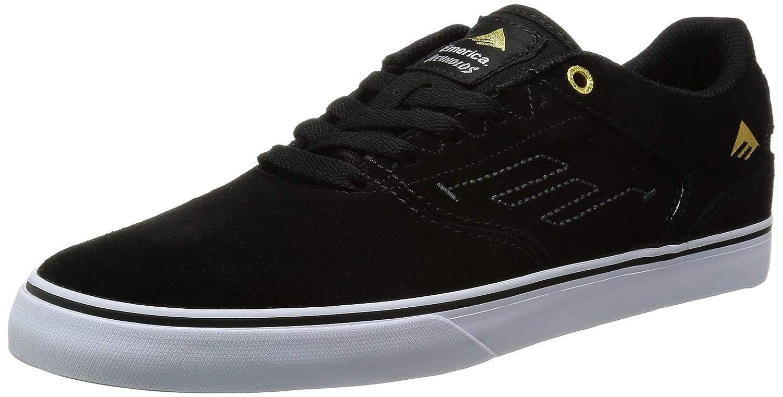 Emerica The Reynolds Low VULC Herren Skateboardschuhe Noir Black White 976
