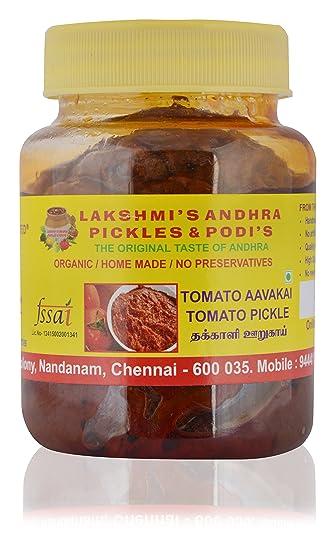 Lakshmi's Gongura Andhra Pickles & Podis Tomato Pickle 250 Gms