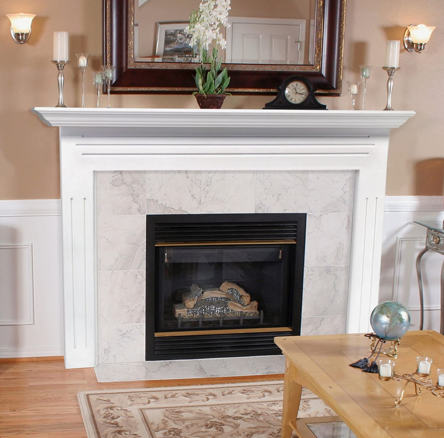 Amazon.com: Pearl Mantels 510-48 Newport 48-Inch Fireplace Mantel ...