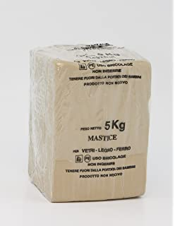 Il Mastice Del Vetraio.Stucco Professionale Per Vetri Grigio 5 Kg Storeingross Amazon It