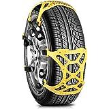Fivanus 非金属タイヤチェーン ジャッキアップ不要 スノーチェーン 車 雪道 プラスチック アイスバーン 凍結 スリップ 事故 悪路 汎用 簡単取付 165mm-265mmまでタイヤに対応 E048