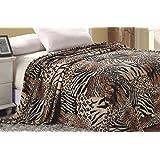 Super Soft Polyester Microplush African Safari Animal Skin Print Blanket - King