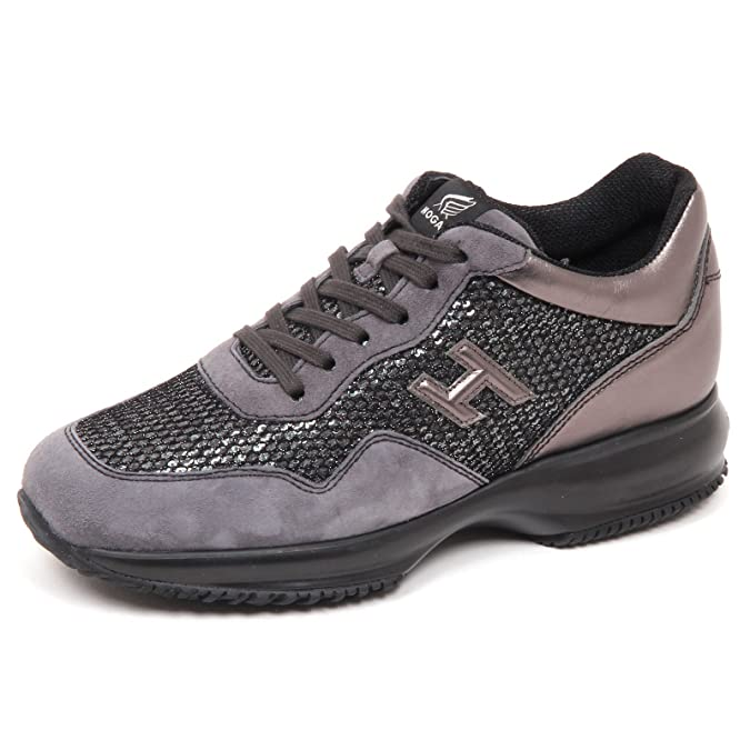 E4552 sneaker donna grey HOGAN INTERACTIVE scarpe H 3D paillettes shoe woman