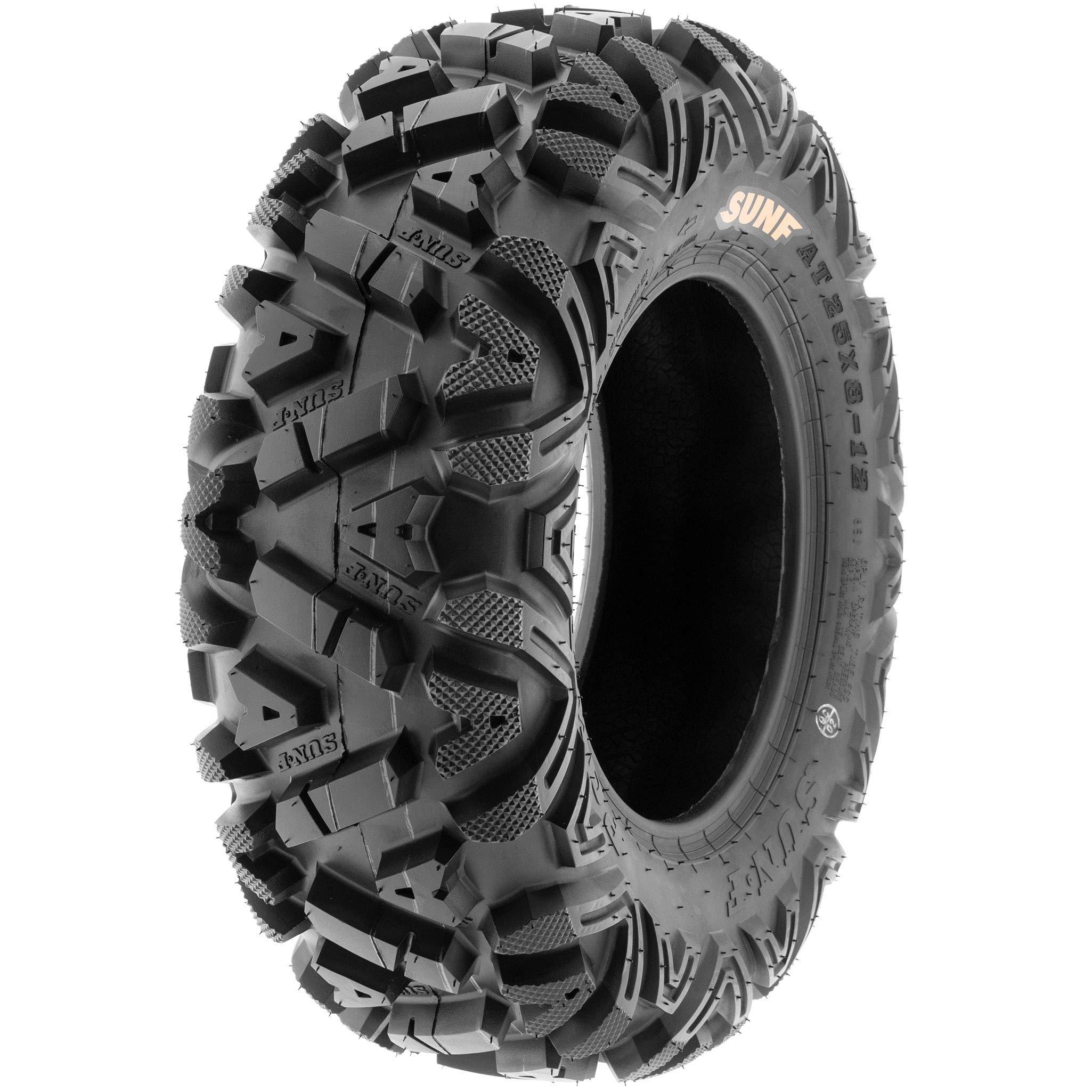 Set of 4 SunF Power.I ATV/UTV AT all-terrain Tires 24x8-11 Front & 24x11-10 Rear, 6 PR, Tubeless A033 by SUNF (Image #6)