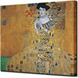Adele Bloch-Bauer Canvas Wall Art Print Woman in Gold Home Decor by Gustav Klimt Framed Ready to Hang Stretched Framed (40 x 40 cm)