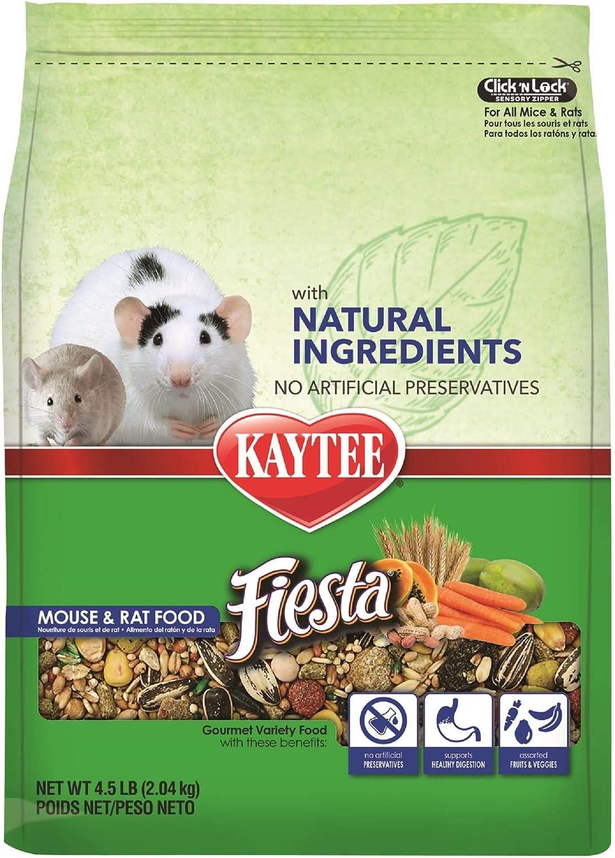 Kaytee Fiesta Naturals Mouse and Rat Food, 4.5 lbs.