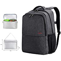 Travel Picnic Backpack for Men Women Waterproof 17 inch Laptop Backpack with USB Charging Port Independent Compartment for Lunch Box or Shoes Waterproof Large Capacity Sporty Busniess Bag Dary Grey