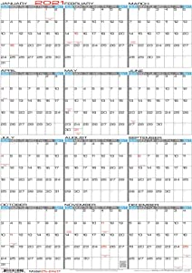 """JJH Planners - Laminated - 24"""" X 17"""" Medium 2021 Erasable Wall Calendar - Vertical 12 Month Yearly Annual Planner (21v-24x17)"""