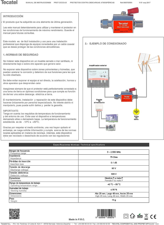 Tecatel - Protector contra descargas atmosféricas para Cable ...