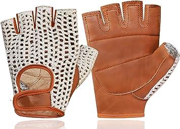 Push Crochet Short Finger Gloves  Medium Bike