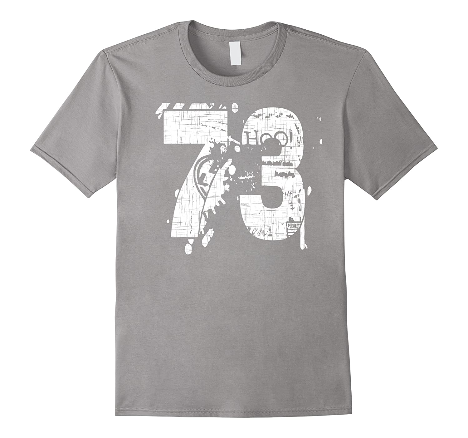 73 Numbered T-Shirt printed front and back in super grunge-PL