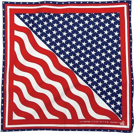 Toalla Estados Unidos de América Bandera Estados Unidos Pañuelo Bandana Pañuelo Toalla de Nicki Aprox. 51 x 51 cm Impresa por una Cara.: Amazon.es: Deportes y aire libre