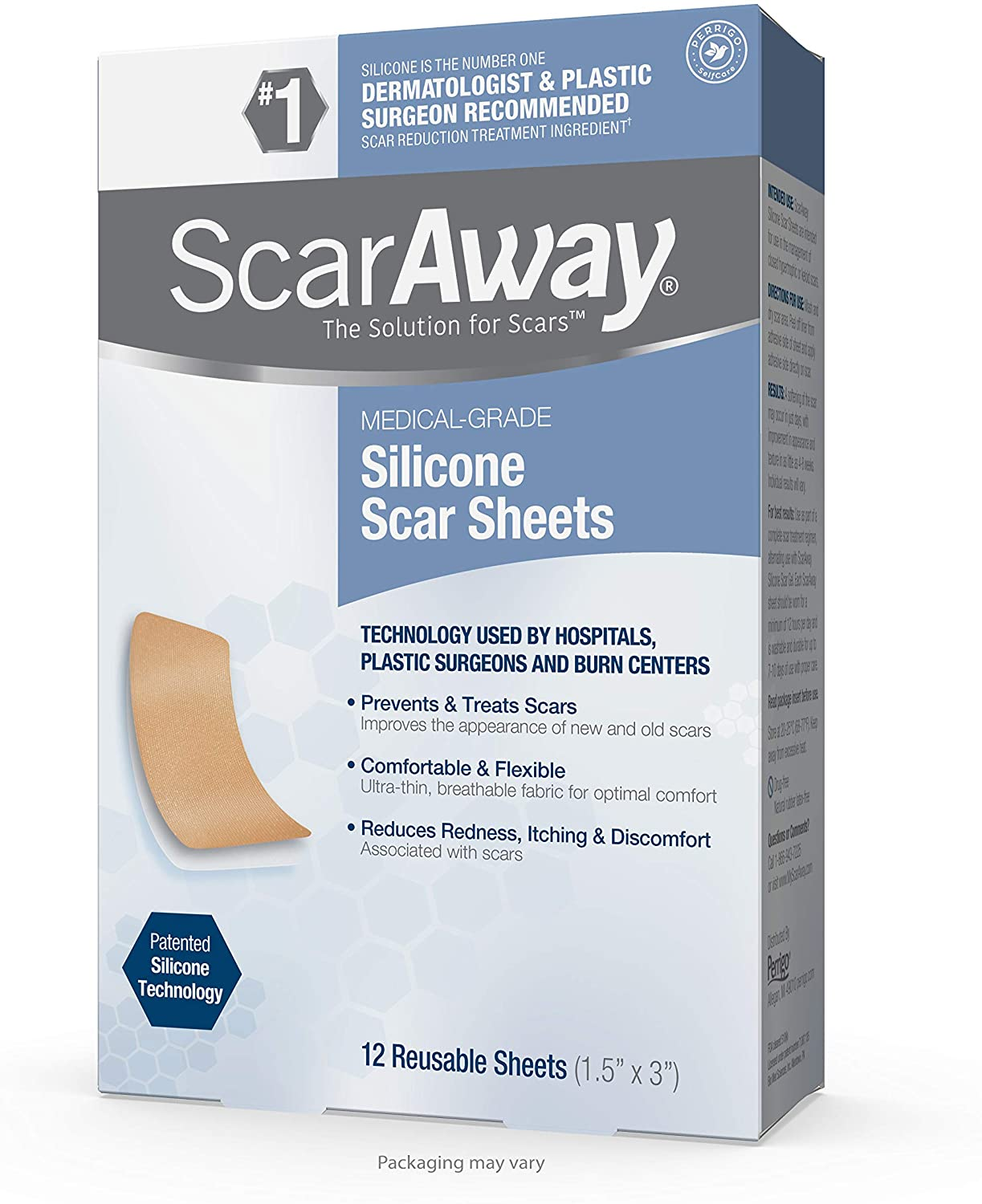 Amazon Com Scaraway Silicone Scar Sheets For Face Body Surgical