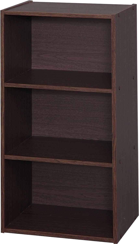 Engineered Iris Ohyama Module Wood Shelf MDB-3 Scaffale modulare con 3 vani in Legno MDF Rovere Chiaro