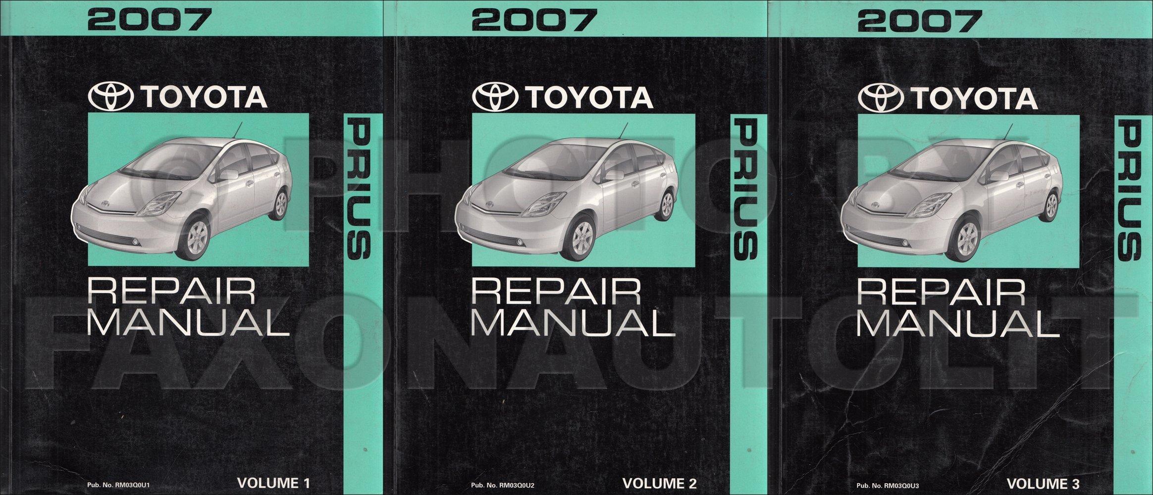 2007 Toyota Prius Repair Shop Manual Original 3 Vol. Set: Toyota:  Amazon.com: Books