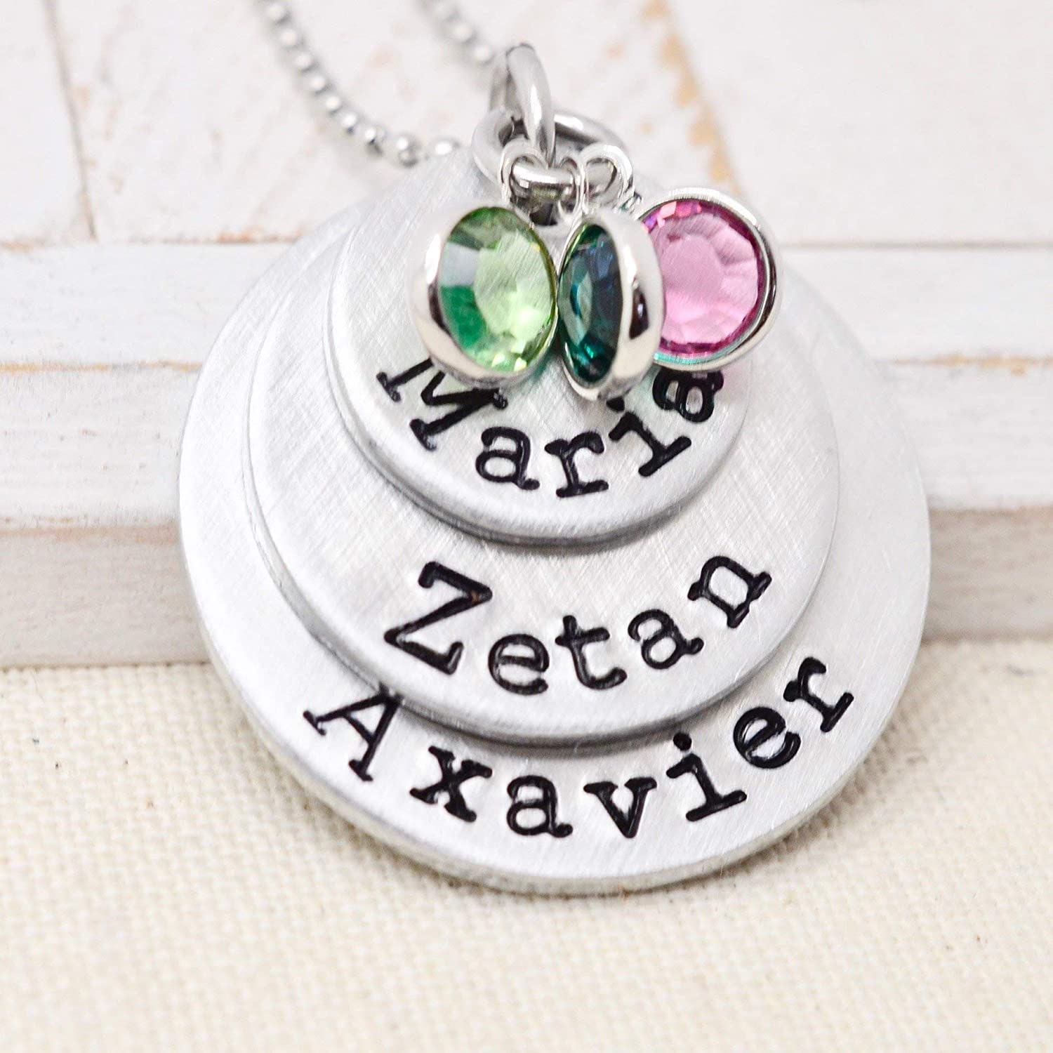 029797b3a870e Personalized Birthstone Necklace for Mom, Mothers Custom Jewelry, Mommy  Name Necklace, Grandma Gift