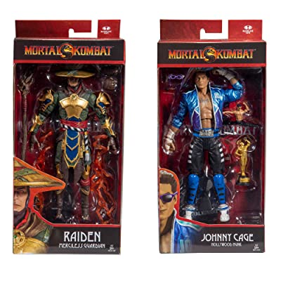 McFarlane Toys Mortal Kombat: Johnny Cage and Raiden Action Figure Set: Toys & Games