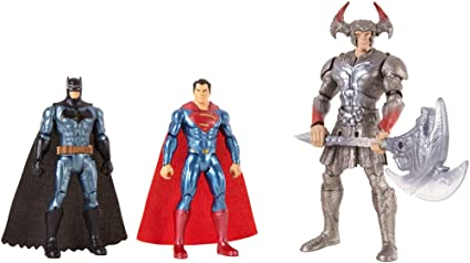 Mattel FGG57 DC - Justice League Movie Basis 15cm Actionfiguren, 3er Actionfigur Pack, Spielzeug ab 3 Jahren