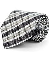Men's Distressed Plaid Woven Tie