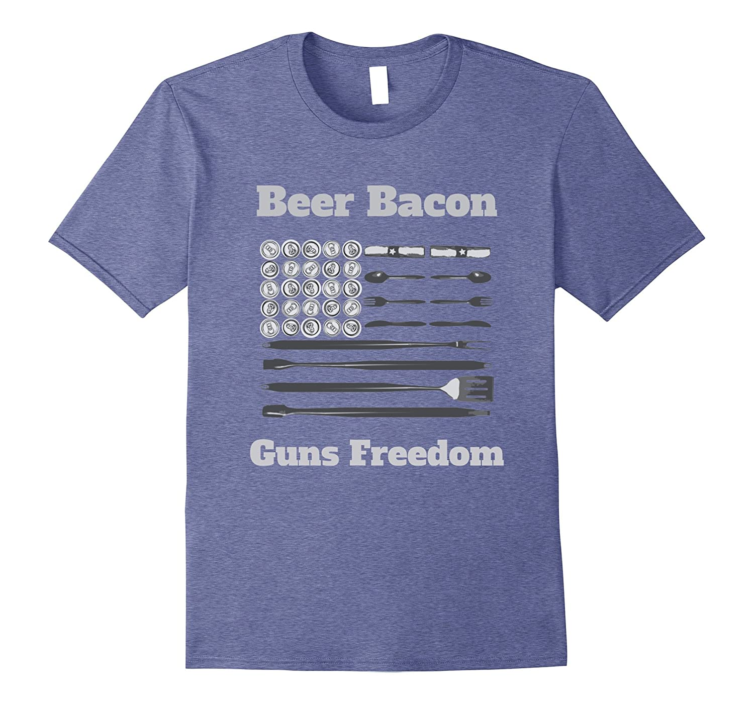 Best Freedom Dad BBQ Smoker Grill Lover Gun Bacon Barbeque-TJ